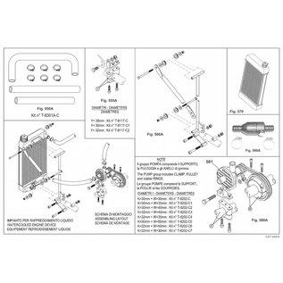 IAME S.p.A. Halterung Wasserpumpe 30 mm X30