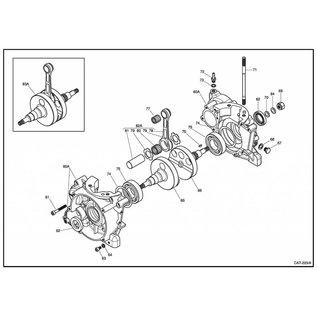 IAME S.p.A. Kurbelwellenhälfte Antriebsseite X30