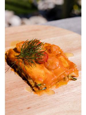 Lasagna con gamberetti