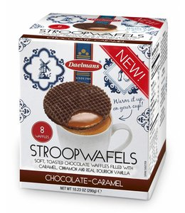 Daelmans Chocolade Caramel Stroopwafels in Cube Doos