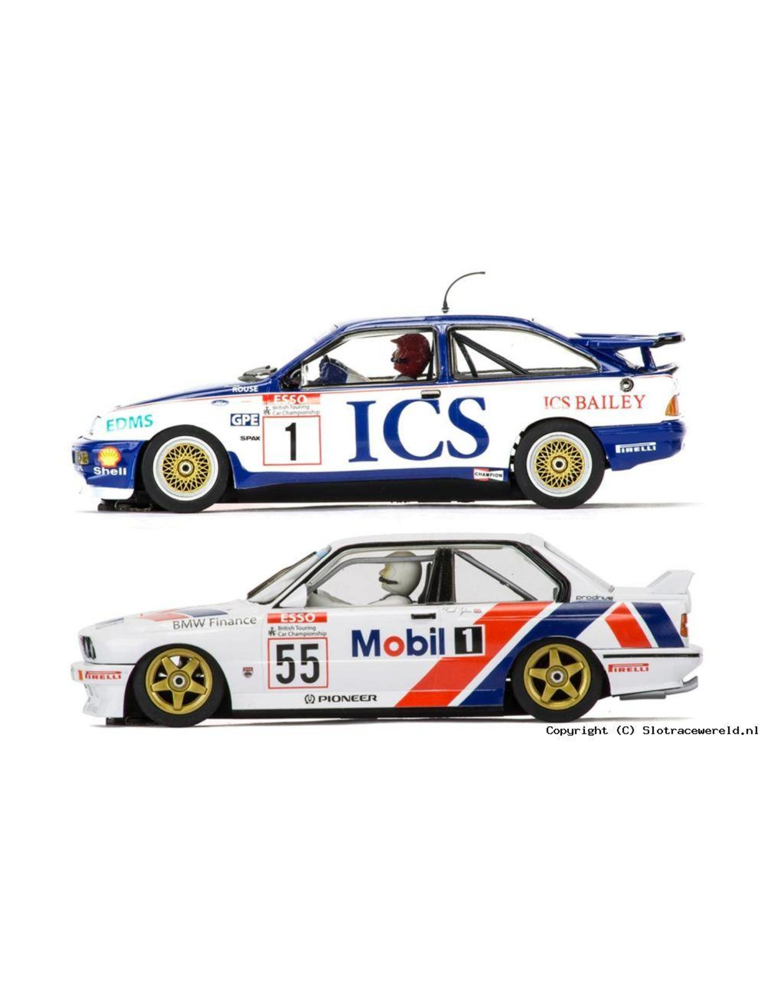 Scalextric Ford Sierra RS500 & BMW E30 - 1:32 - Scalextric