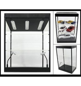 Linkwow LED Lighted Display Case - 2 Adjustable Shelves - Linkwow
