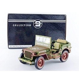 Jeep Jeep Willys 'Military Police' (Dirty) 1941 - 1:18 - Triple 9 Collection