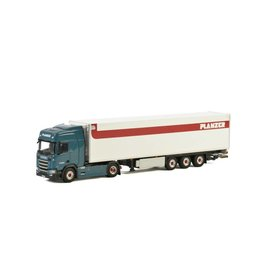 Scania Scania R Highline CR20H 4x2 + Reefer Semitrailer 3 axle 'Planzer' - 1:50 - WSI Models