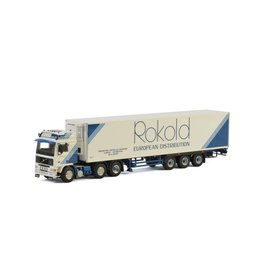Volvo Volvo F 12 Twin Steer 6x2 + Reefer Semitrailer 3 axle 'Rokold European Distribution'