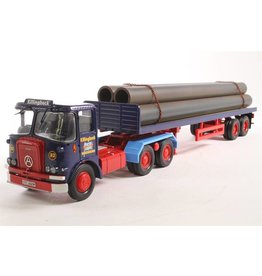 Atkinson Atkinson Borderer + Flatbed Trailer + Pipes Load 'Killingbeck Transport' - 1:50 - Cirgi