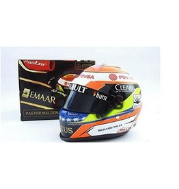 Helm Helmet  P. Maldonado Mini Helmet Lotus F1 - 1:2 - Sports Mini Line