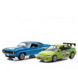 Movie Memorabilia Movie Memorabilia Fast and Furious Set: Chevrolet + Mitsubishi - 1:43 - Greenlight