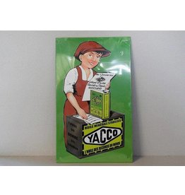 Blikken bord Yacco (17 cm x 28 cm)