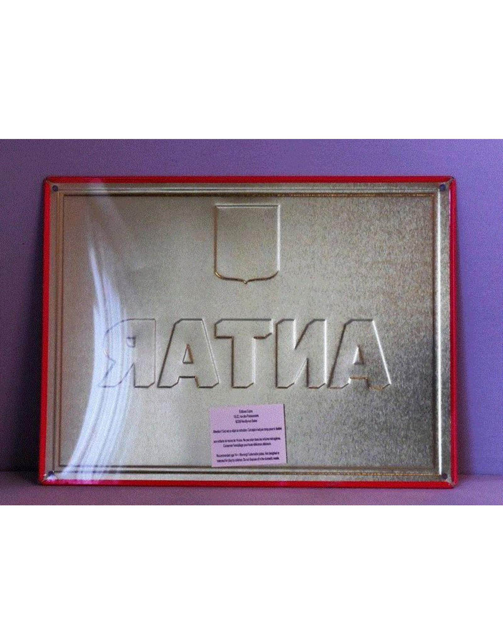 Blikken bord Tin Plate Antar (28 cm x 21 cm)