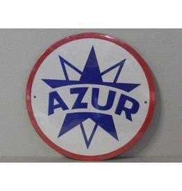 Blikken bord Azur (21 cm x 21 cm)