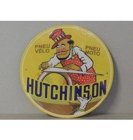 Blikken bord Hutchinson (21 cm x 21 cm)