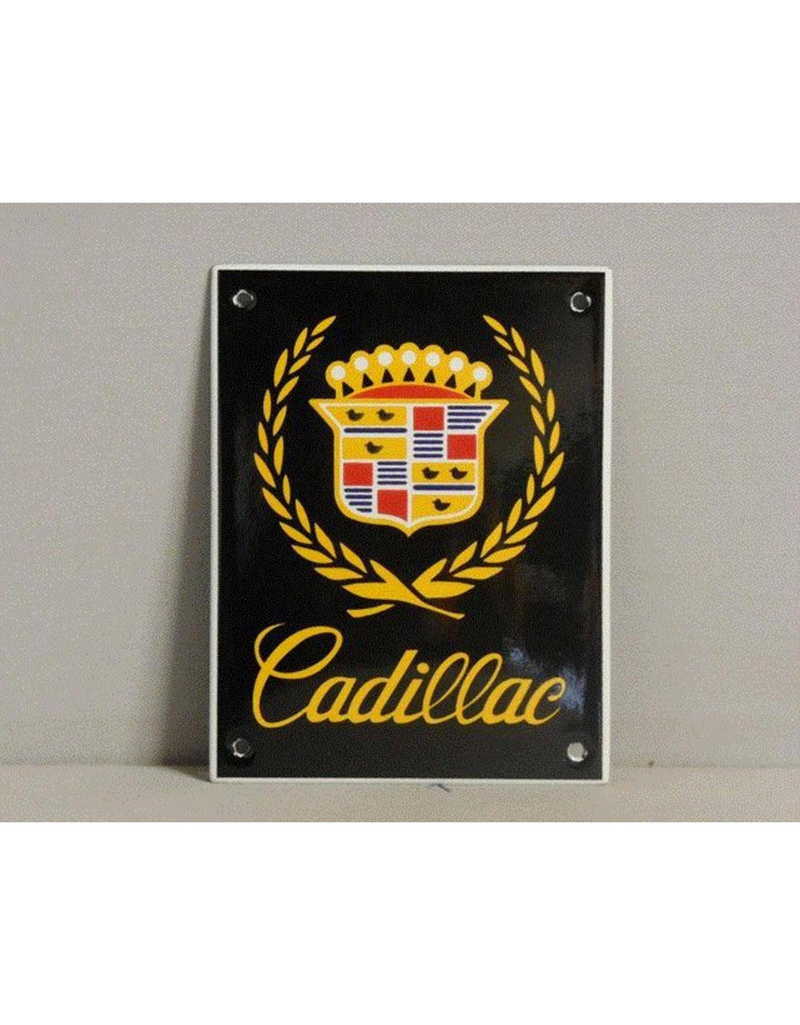 Emaille Bord Enamel Plate Cadillac (10 cm x 13 cm)