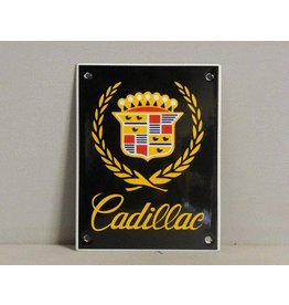Emaille Bord Enamel Plate Cadillac (10 cm x 13 cm)
