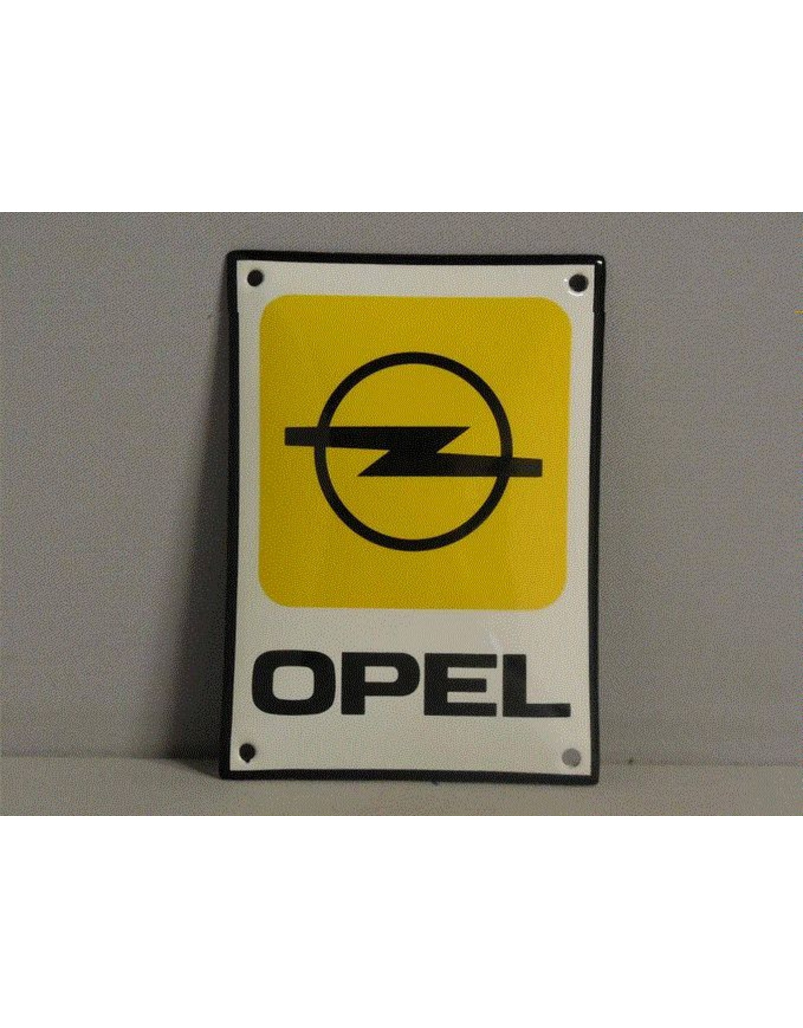 Emaille Bord Enamel Plate Opel (10 cm x 14 cm)