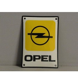 Emaille Bord Emaille Bord Opel (10 cm x 14 cm)