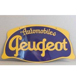 Blikken bord Automobiles Peugeot (32 cm x 17 cm)