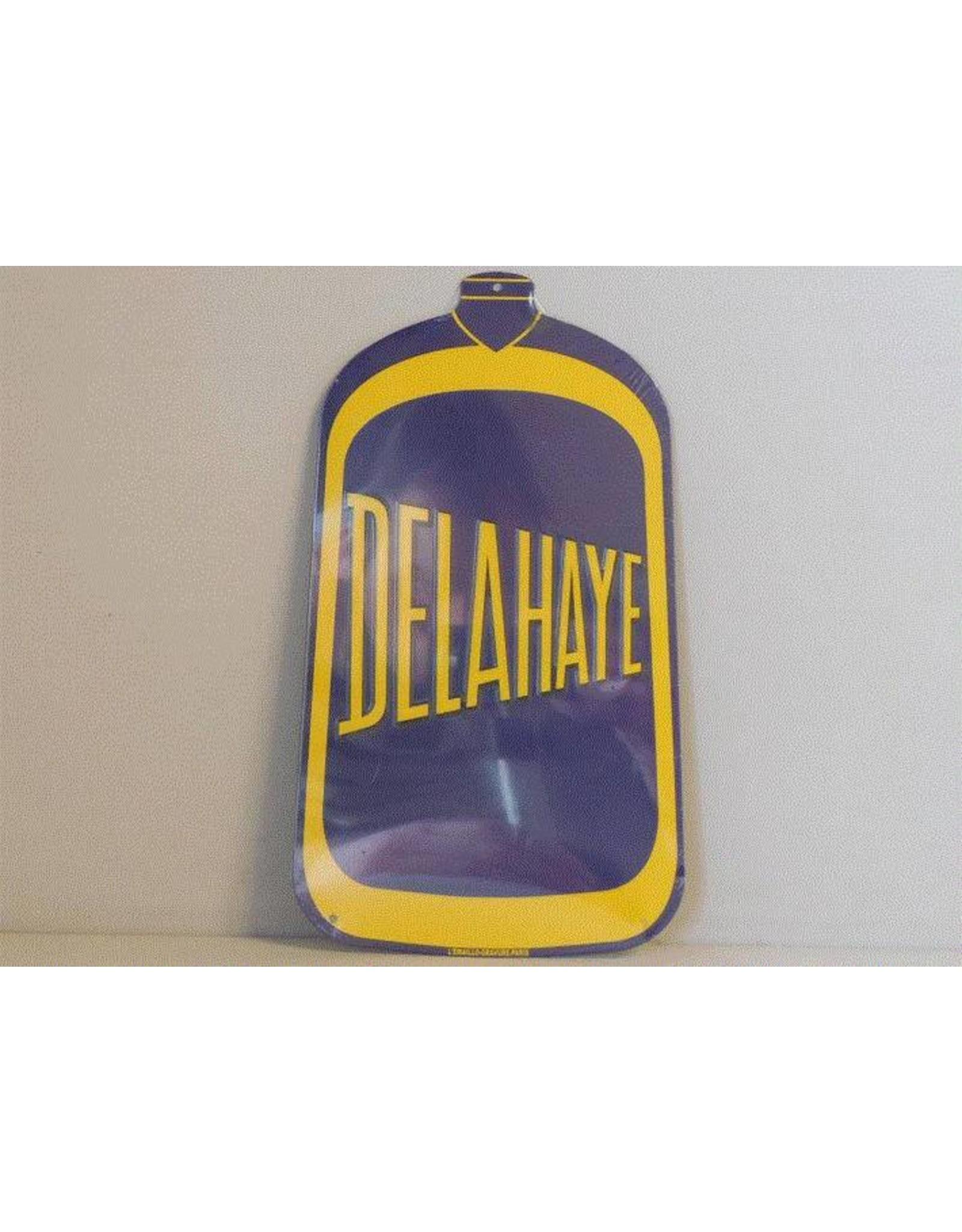 Blikken bord Tin Plate Delahaye (16 cm x 28 cm)