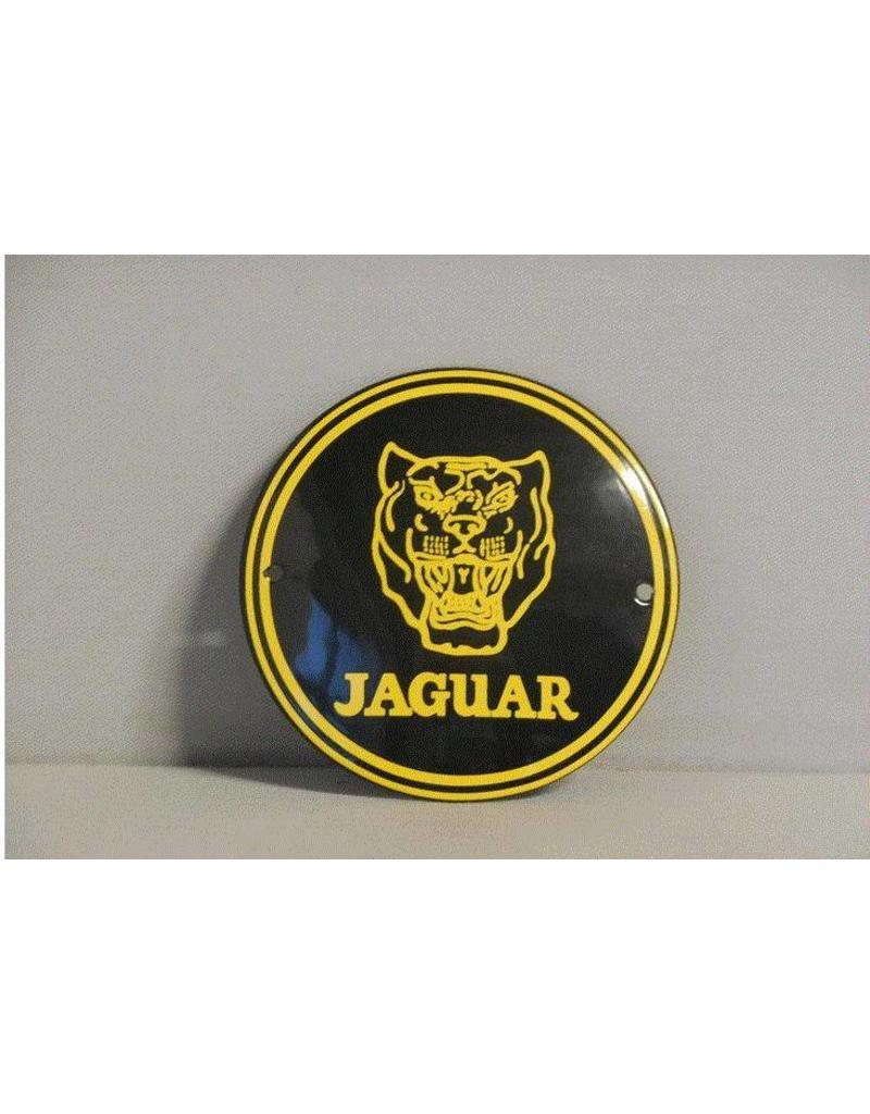 Emaille Bord Enamel Plate Jaguar (10 cm)