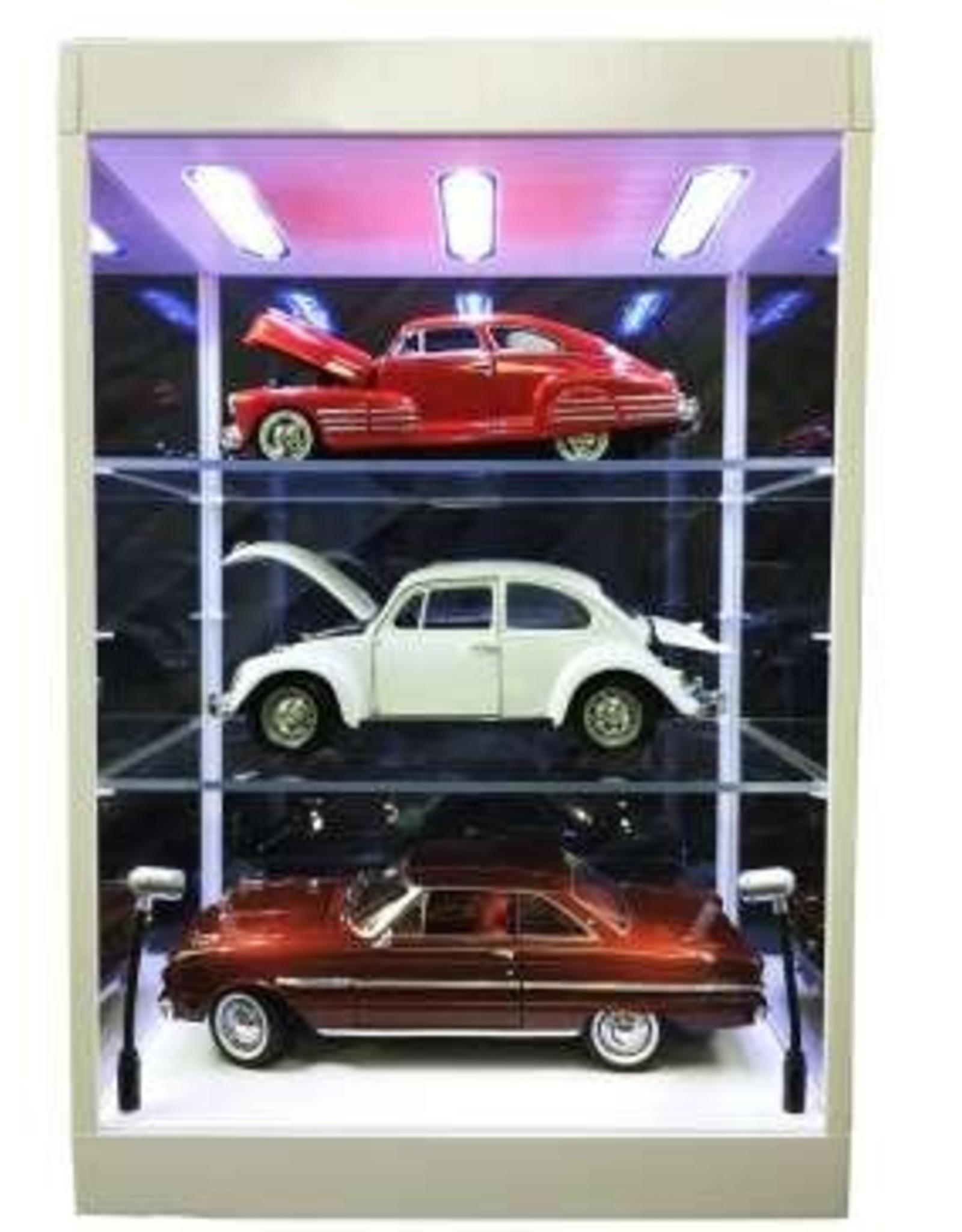 Linkwow LED Lighted Display Case - 2 Adjustable Shelves - Linkwow