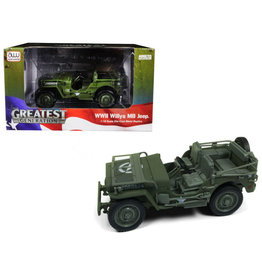 Jeep Willys MB Jeep WWII Military Police - 1:18 - Auto World