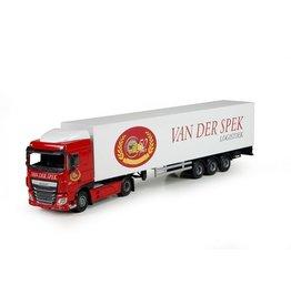 DAF DAF XF Euro 6 SC + Box Semitrailer 'Van der Spek' - 1:50  - Lion Toys