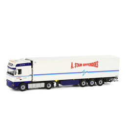 DAF DAF XF 105 Super Space Cab 4x2 + Reefer Semitrailer 3 axle 'A. Stam Opperdoes' - 1:50 - WSI Models