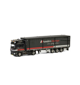 DAF DAF  XF Super Space Cab Euro 6 4x2 + Cargo Floor Volume Trailer 3 axle 'Sanders Fourage' - 1:50 - WSI Models