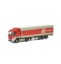 Mercedes-Benz Mercedes-Benz Actros MP4 Stream Space 4x2 + Curtainside Tautliner Trailer 3 axle 'Arcese' - 1:50 - WSI Models