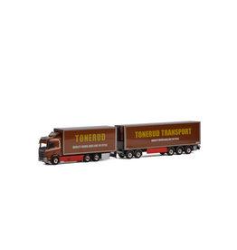 Scania Scania R Normal CR20N Rigid Truck 6x4 + Dolly 2 axle + Box Semitrailer 3 axle 'Tonerud' - 1: 50 - WSI Models