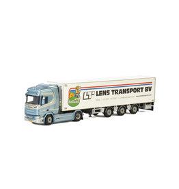Scania Scania R Highline CR20H 4x2 + Reefer Semitrailer 3 axle 'Lens Transport' - 1:50 - WSI Models