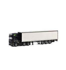 Scania Scania R5 Topline 6x2 + Curtainside Tautliner Trailer 3 axle 'AG Transport' - 1:50 - WSI Models
