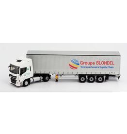 Iveco Iveco Stralis NP 4x2 + Curtainside Semitrailer 3 axle 'Group Blondel' - 1:43 - Eligor