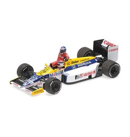 Formule 1 Formula 1 Williams Honda FW11 Rosberg riding on Piquet German GP '86 - 1:43 - Minichamps