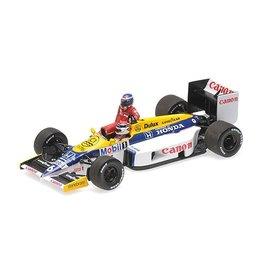 Formule 1 Formule 1 Williams Honda FW11 Rosberg riding on Piquet German GP '86 - 1:43 - Minichamps