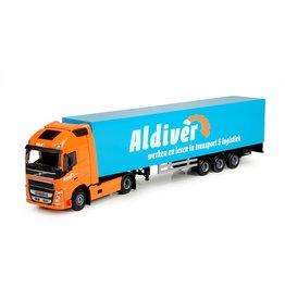 Volvo Volvo FH04 Globetrotter XL 4x2 + Box Semitrailer 3 axle ' Aldiver' - 1:50 - Lion Toys