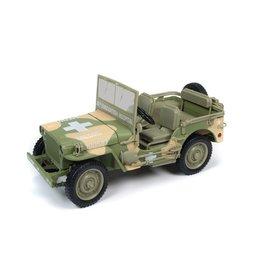Jeep Willys MB Jeep WWII 15th Evacuation Hospital - 1:18 - Auto World