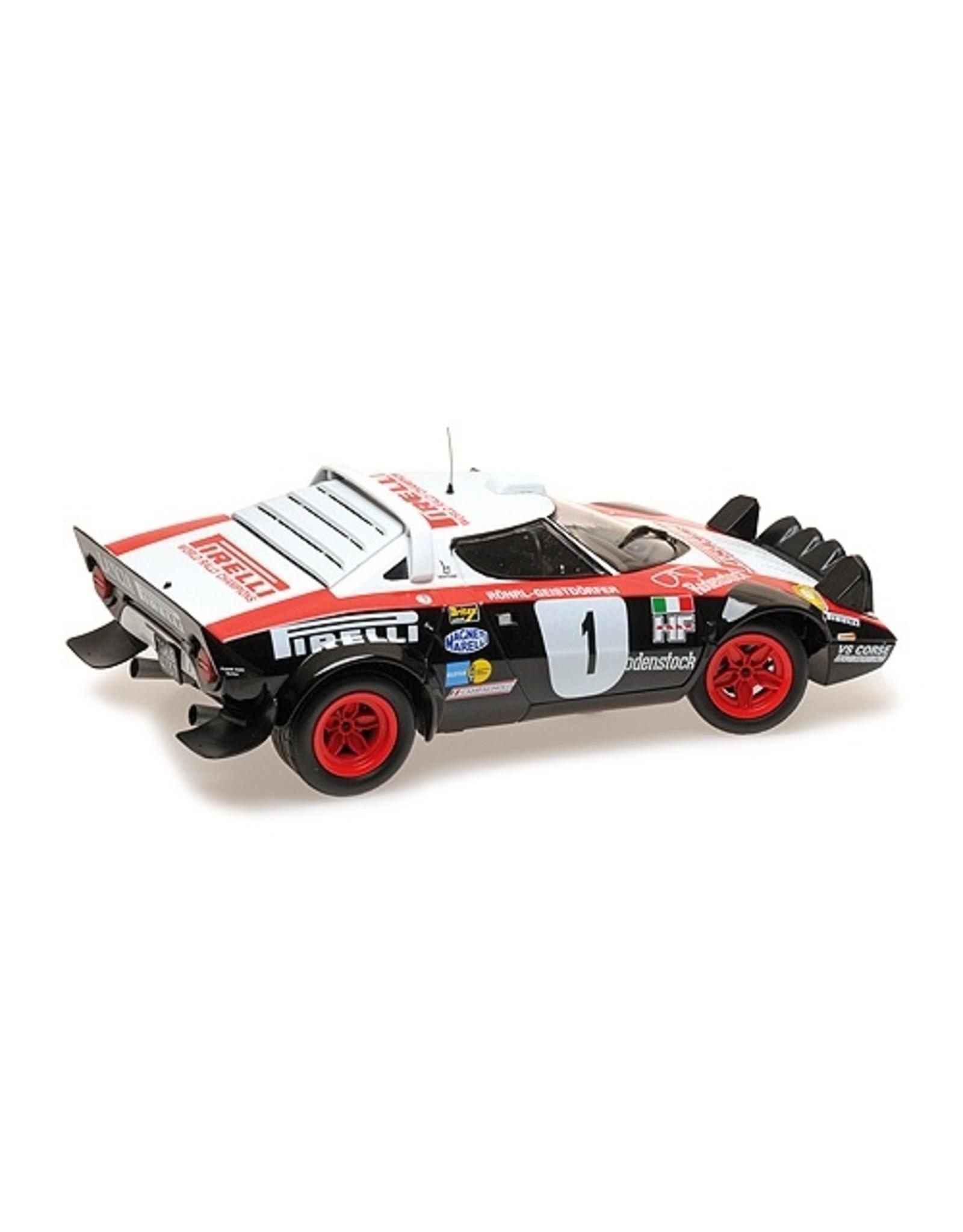 Lancia Lancia Stratos Lancia Pirelli #1 Winners Dynavit Saarland Rallye 1978 - 1:18 - Minichamps