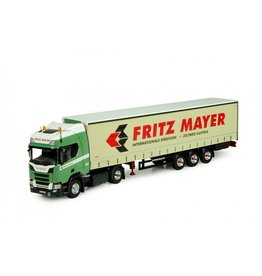 Scania Scania NGS R Serie Highline 4x2 + Curtainside Semitrailer 3 axle 'Fritz Mayer' - 1:50 - Tekno