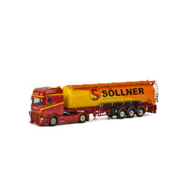 Scania Scania S Highline CS20H 4x2 + Bulk Tipper Trailer 3 axle  'Söllner' - 1: 50 - WSI Models