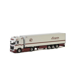 Scania Scania S Highline CS20H 4x2 + Reefer Semitrailer 3 axle 'Hacquin Transports'  - 1:50 - WSI Models