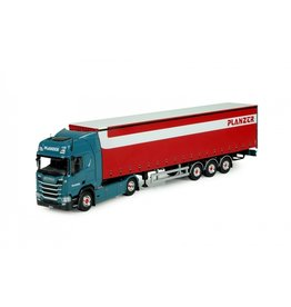 Scania Scania NGS R Serie Highline 4x2 + Curtainside Semitrailer 3 axle 'Planzer' - 1:50 - Tekno