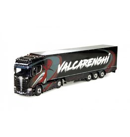 Scania Scania NGS S Serie Highline 4x2 + Reefer Semitrailer 3 axle ' Bruno Valcarenghi' - 1:50 - Tekno