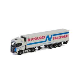 Scania Scania R Highline CR20H 4x2 + Semi Reefer Trailer 3 axle 'Nicolosi Trasporti'  - 1:50 - WSI Models