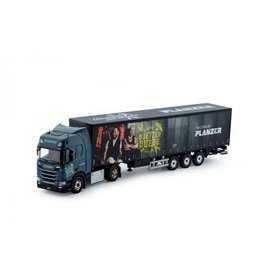 Scania Scania NGS R Serie Highline 4x2 + Curtainside Semitrailer 3 axle ' Planzer Büetzer Buebe' - 1:50 - Tekno