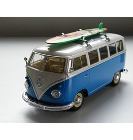 Volkswagen Volkswagen T1 Classic Bus + Surfboard 1962 - 1:24 - Welly