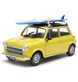 Mini Mini Cooper 1300 + Surfboard - 1:24 - Welly