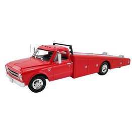 Chevrolet Chevrolet C-30 Truck Ramp Car Transporter + Slide Out Ramps 1967 - 1:18 - ACME