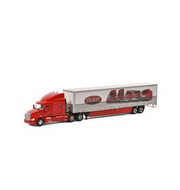 Peterbilt Peterbilt 579 6x4 + Boxtrailer 2 Axle - 1:50 - WSI Models
