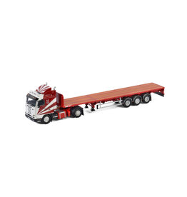 Scania Scania 3 Series Streamline 4x2 + Flatbed Extendable Semitrailer 3 axle 'Ron Wood' - 1:50 - WSI Models